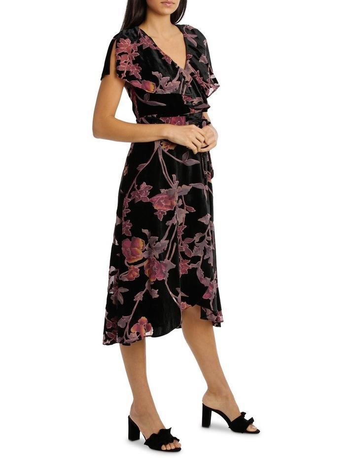 Burnout Pansy Wrap Midi Dress image 2