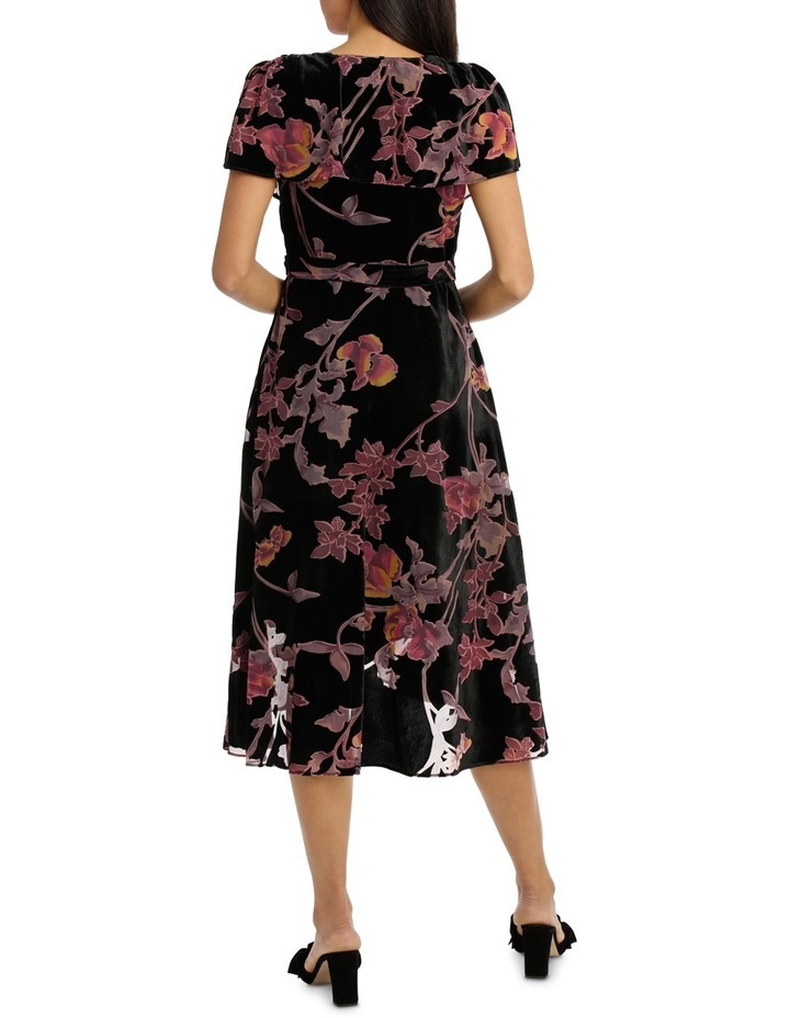 Burnout Pansy Wrap Midi Dress image 3
