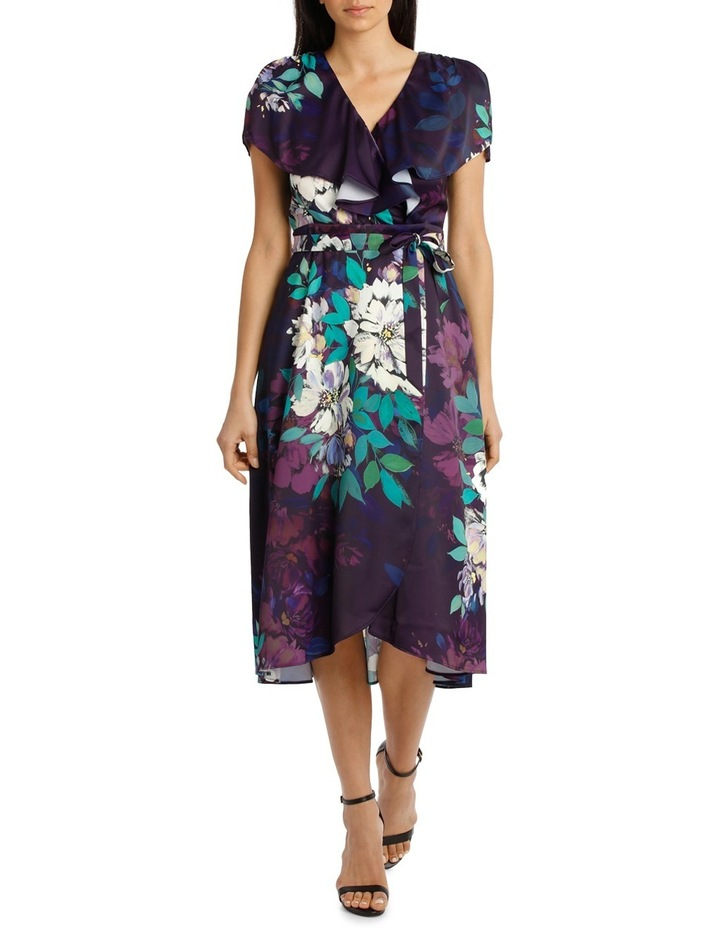 Viola Floral Wrap Flutter Sleeve Midi Dress image 1