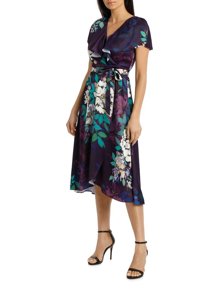 Viola Floral Wrap Flutter Sleeve Midi Dress image 2