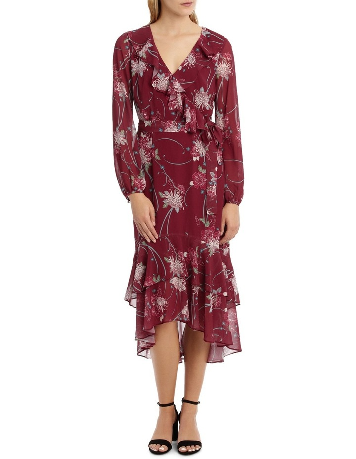 Burgundy Orient Flower Dream Lover Maxi Dress image 1