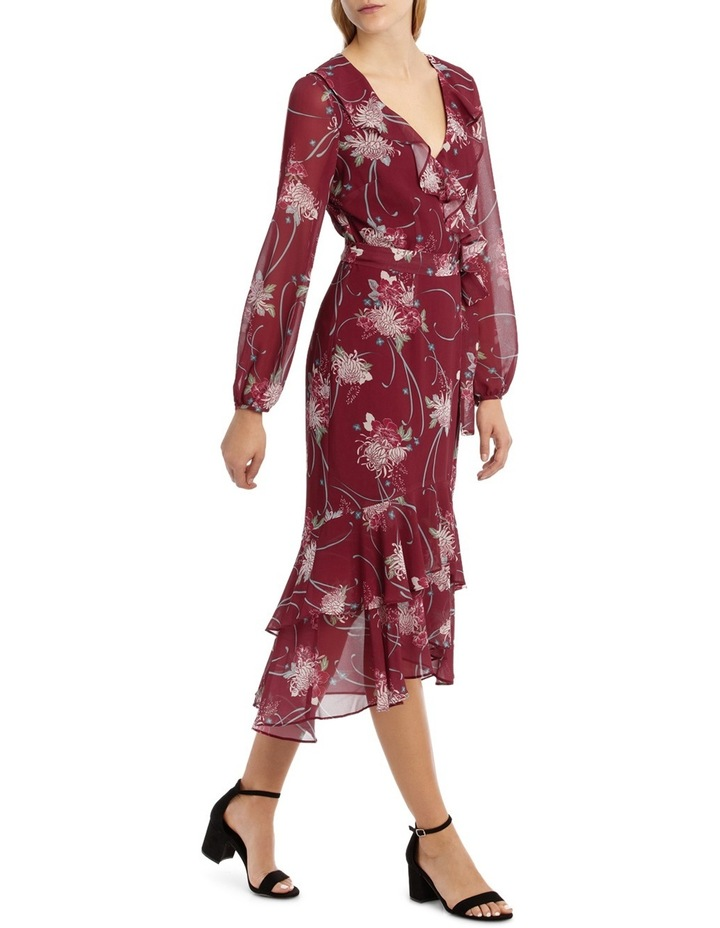 Burgundy Orient Flower Dream Lover Maxi Dress image 2