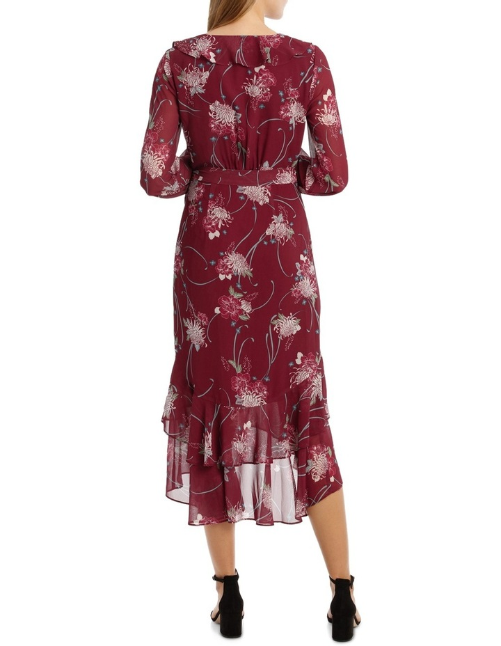 Burgundy Orient Flower Dream Lover Maxi Dress image 3