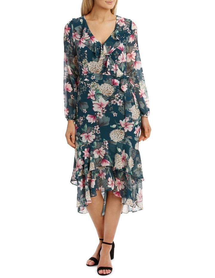 Teal Orient Flower Dream Lover Maxi Dress image 1
