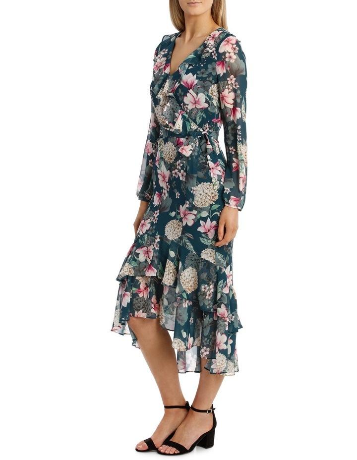 Teal Orient Flower Dream Lover Maxi Dress image 2