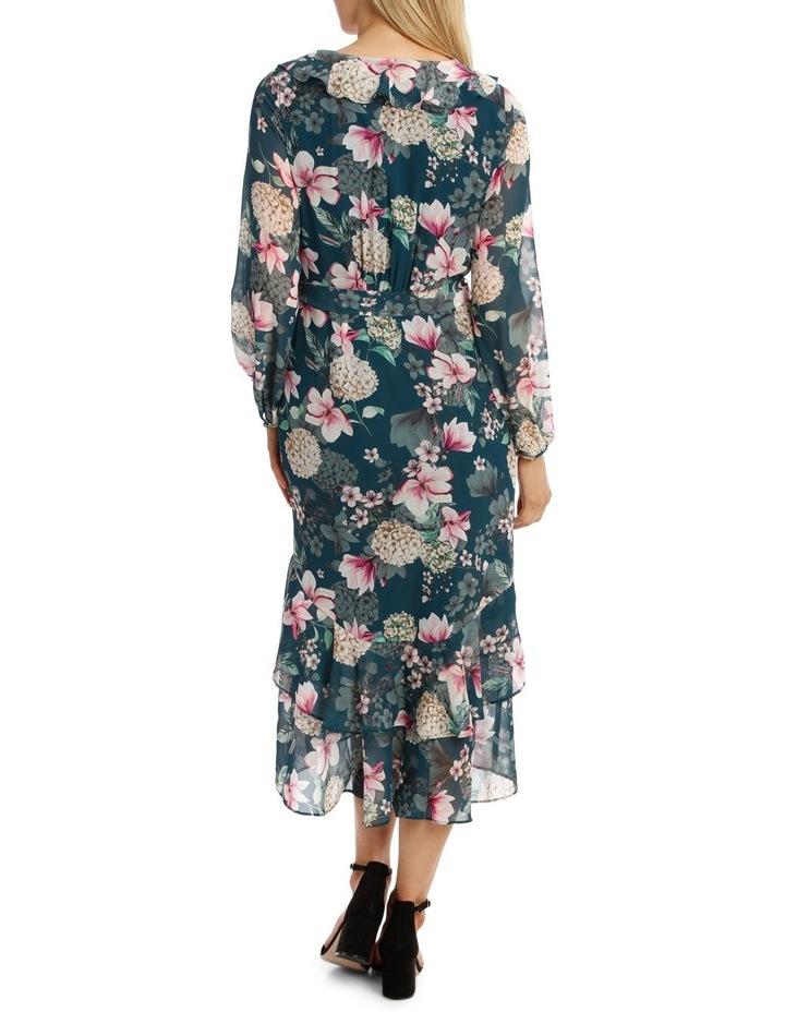 Teal Orient Flower Dream Lover Maxi Dress image 3