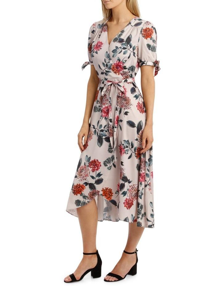 Light Chrysanthemum Tie Sleeve Dress image 2