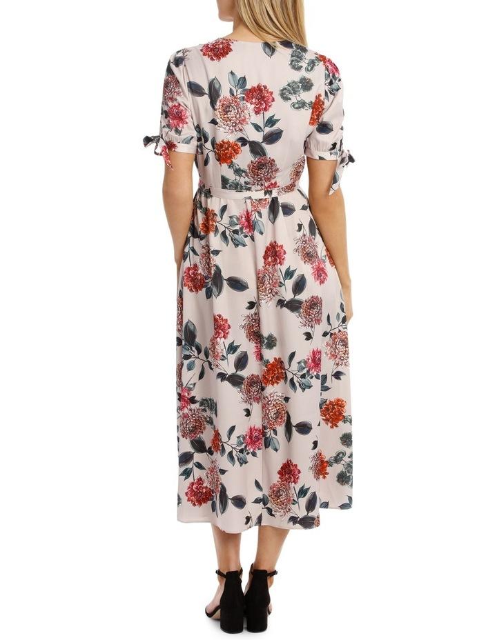 Light Chrysanthemum Tie Sleeve Dress image 3