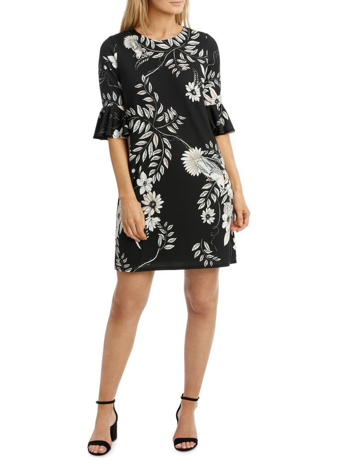 Hummingbird Wrap Dress With Sleeves image 1