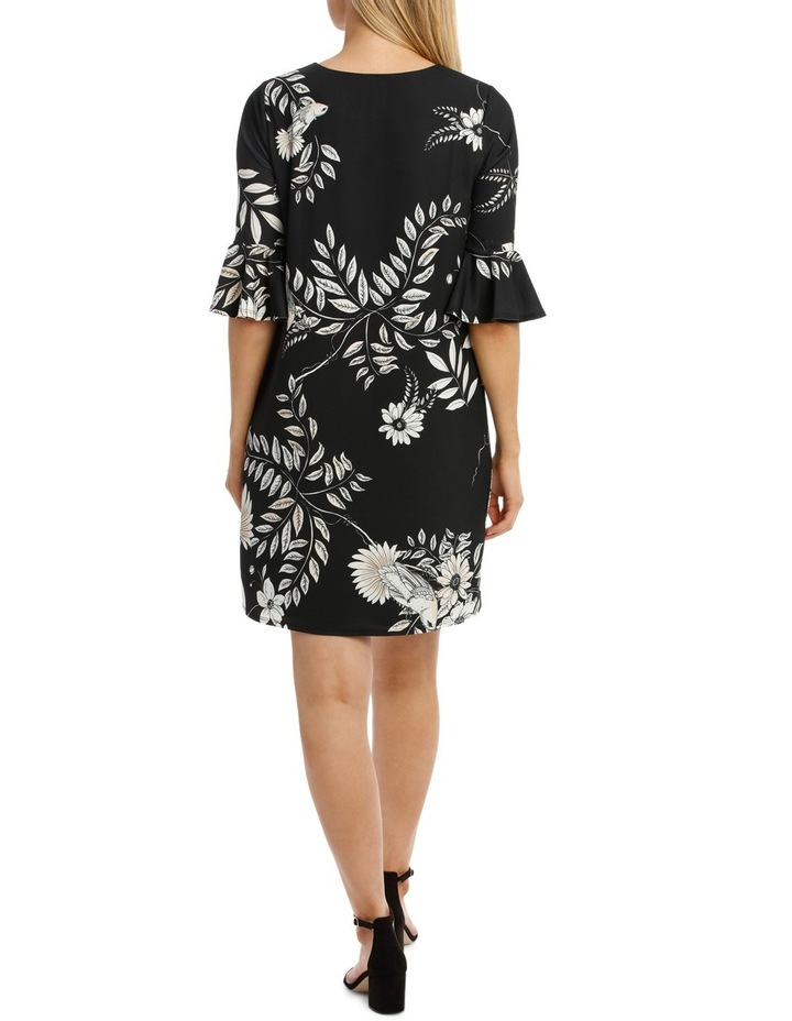 Hummingbird Wrap Dress With Sleeves image 3