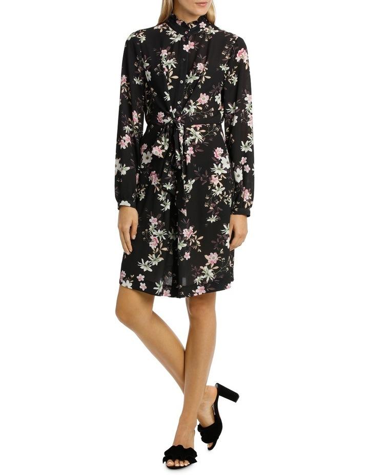 Garden Floral Ruffle Sleeve Shift Dress image 1