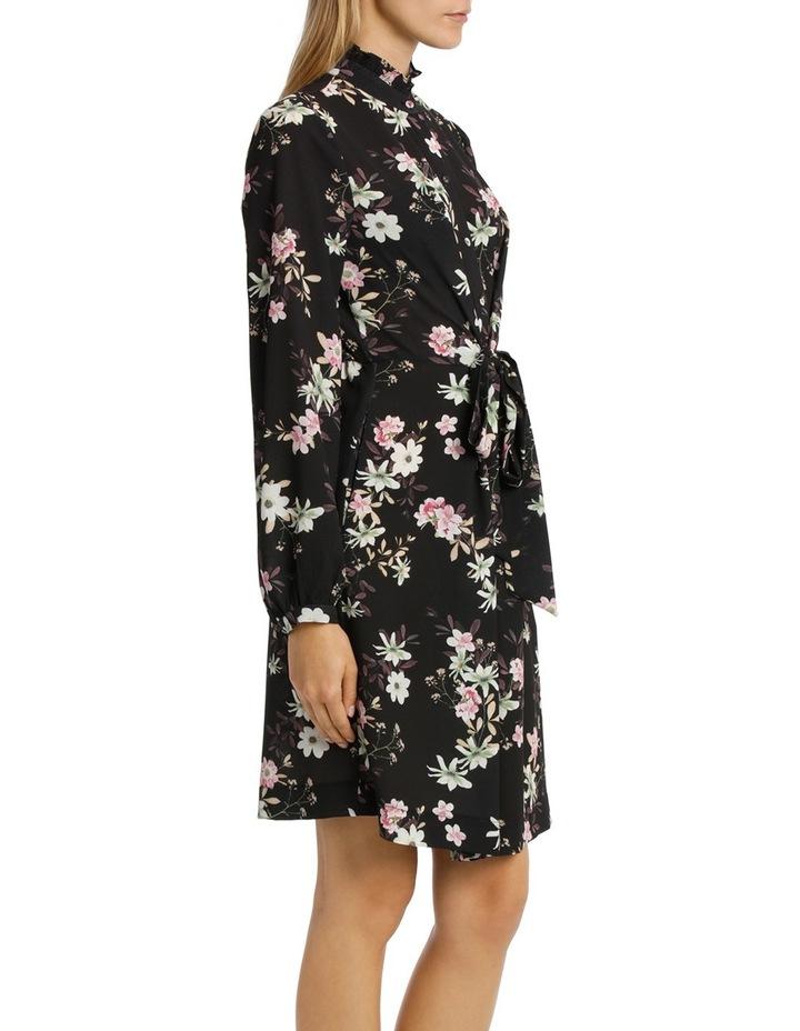 Garden Floral Ruffle Sleeve Shift Dress image 2