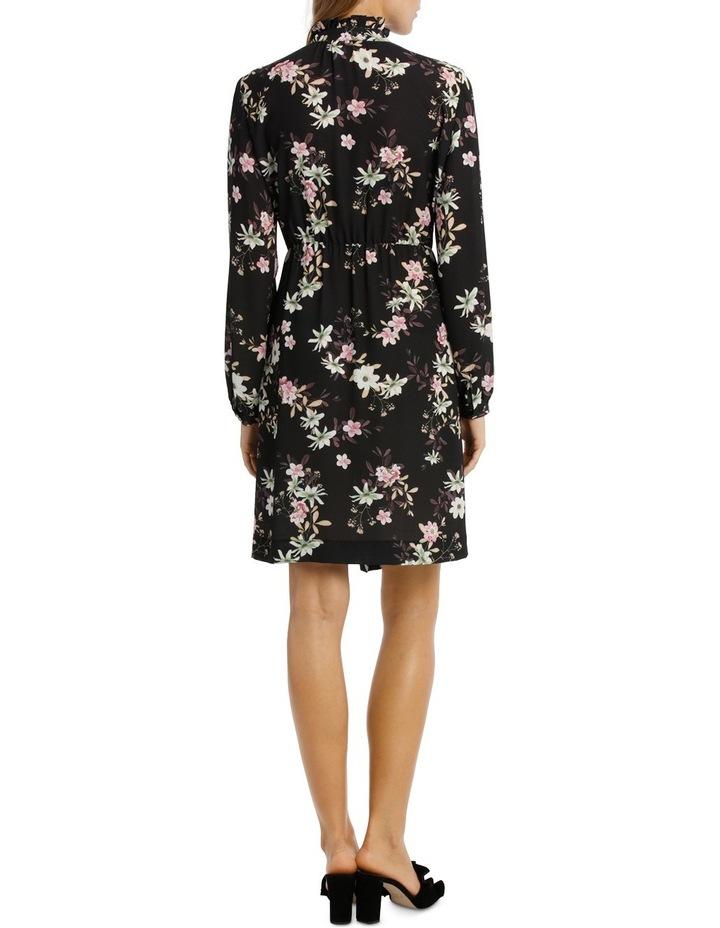 Garden Floral Ruffle Sleeve Shift Dress image 3