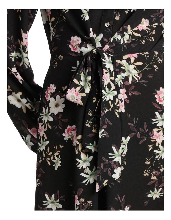 Garden Floral Ruffle Sleeve Shift Dress image 4