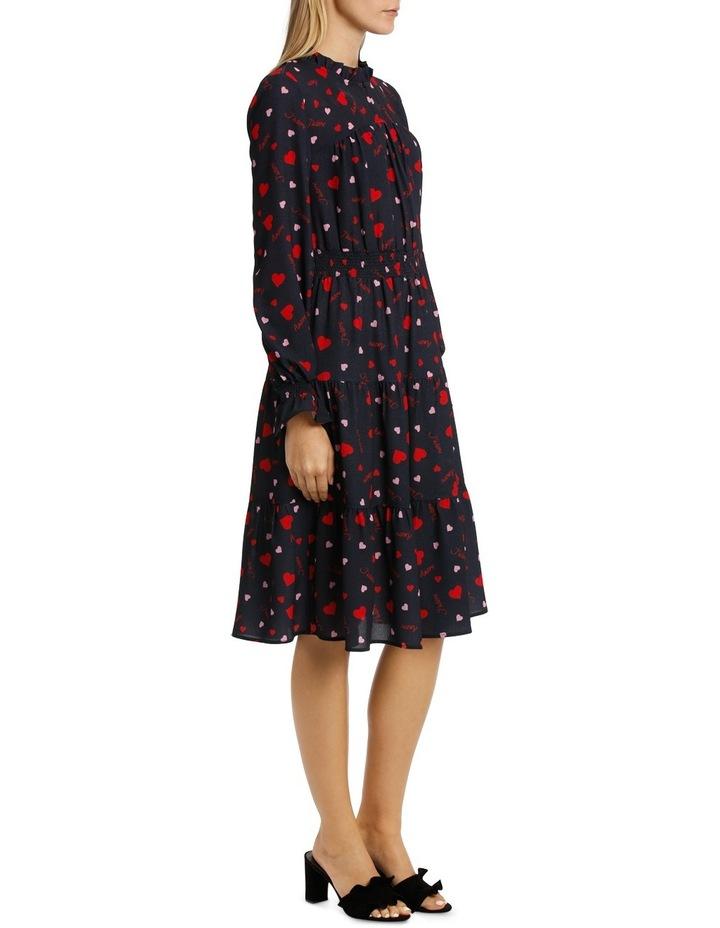 Spotty Beating Heart High Neck Dress Tiered Skirt image 2