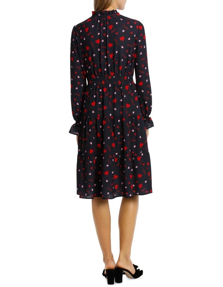 Spotty Beating Heart High Neck Dress Tiered Skirt image 3
