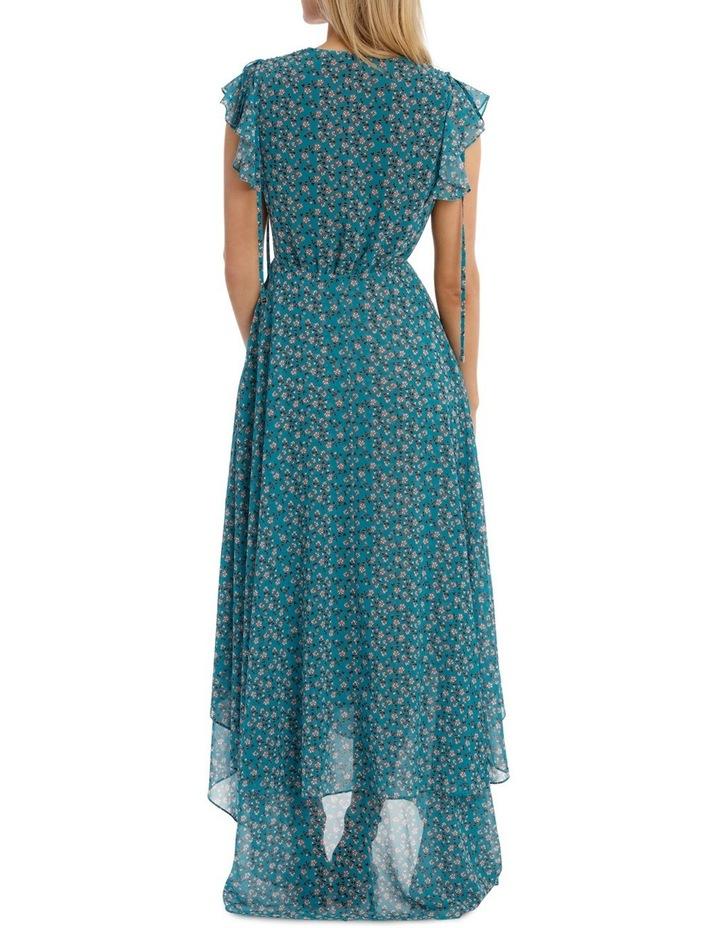 Teal Arrangements Draw Shoulder Tiered Dress image 3