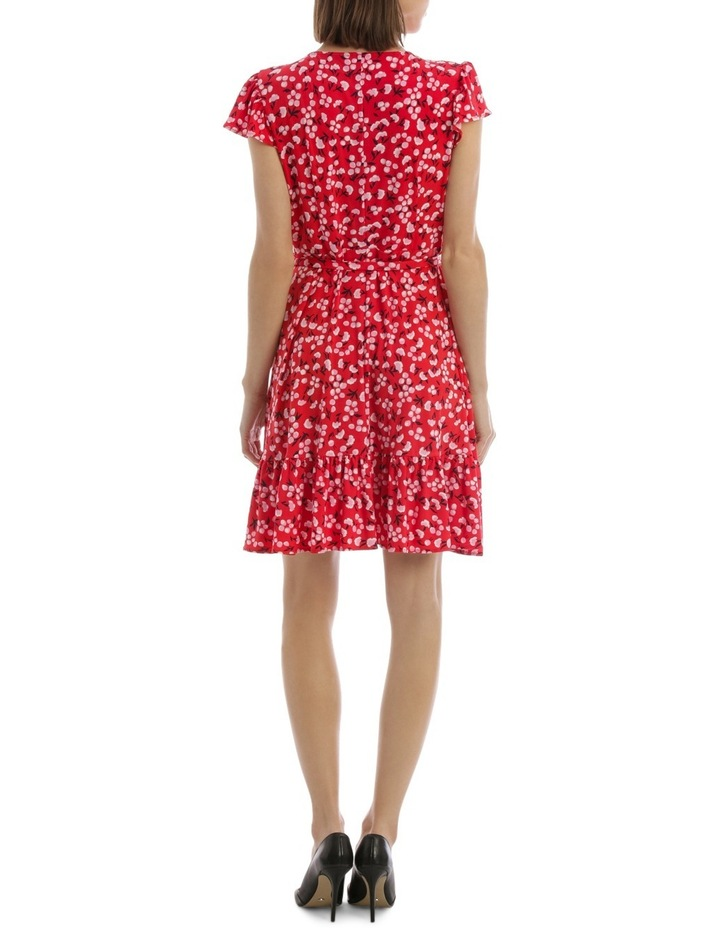 Red Baby Berry Jersey Mock Wrap Dress image 3