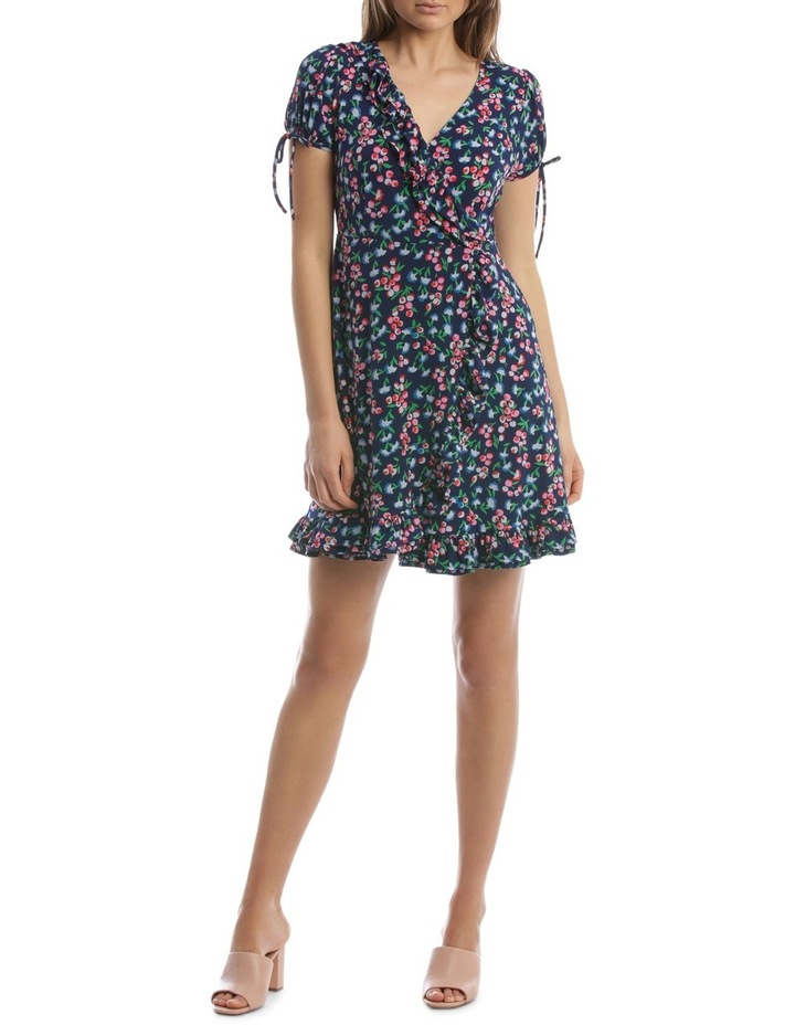 Baby Berry Jersey Mock Wrap Dress image 1