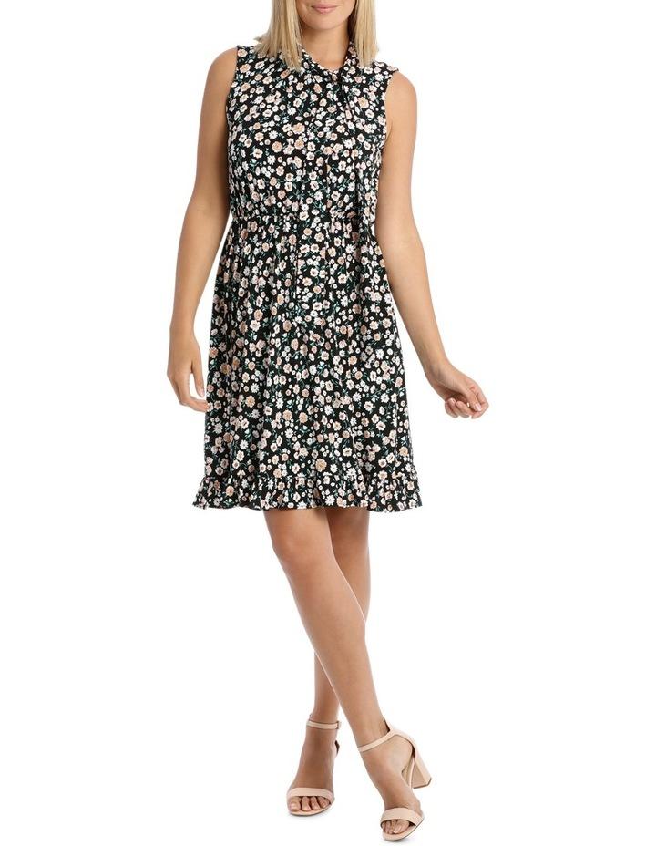 Black Falling Daisy Side Tie Dress image 1