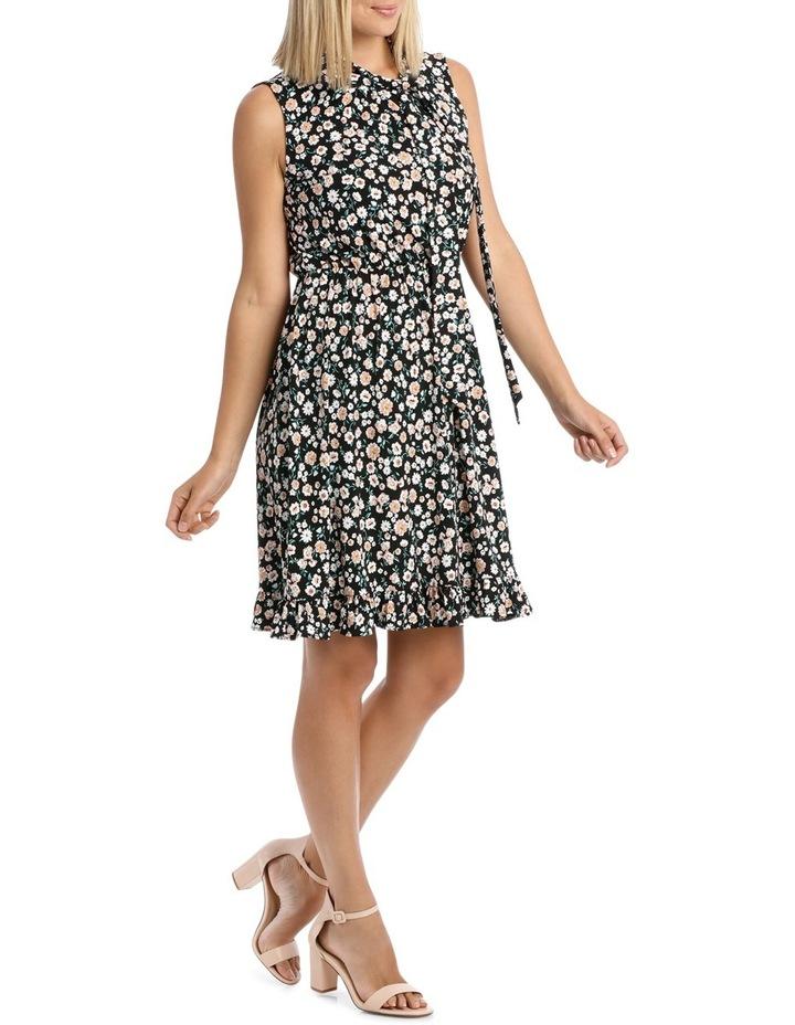 Black Falling Daisy Side Tie Dress image 2