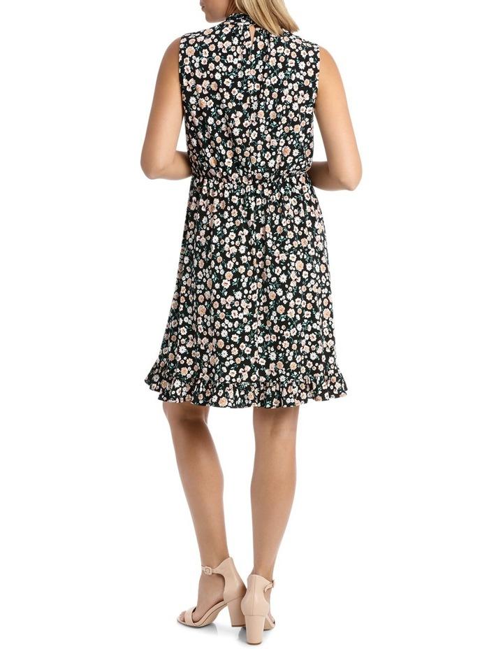 Black Falling Daisy Side Tie Dress image 3