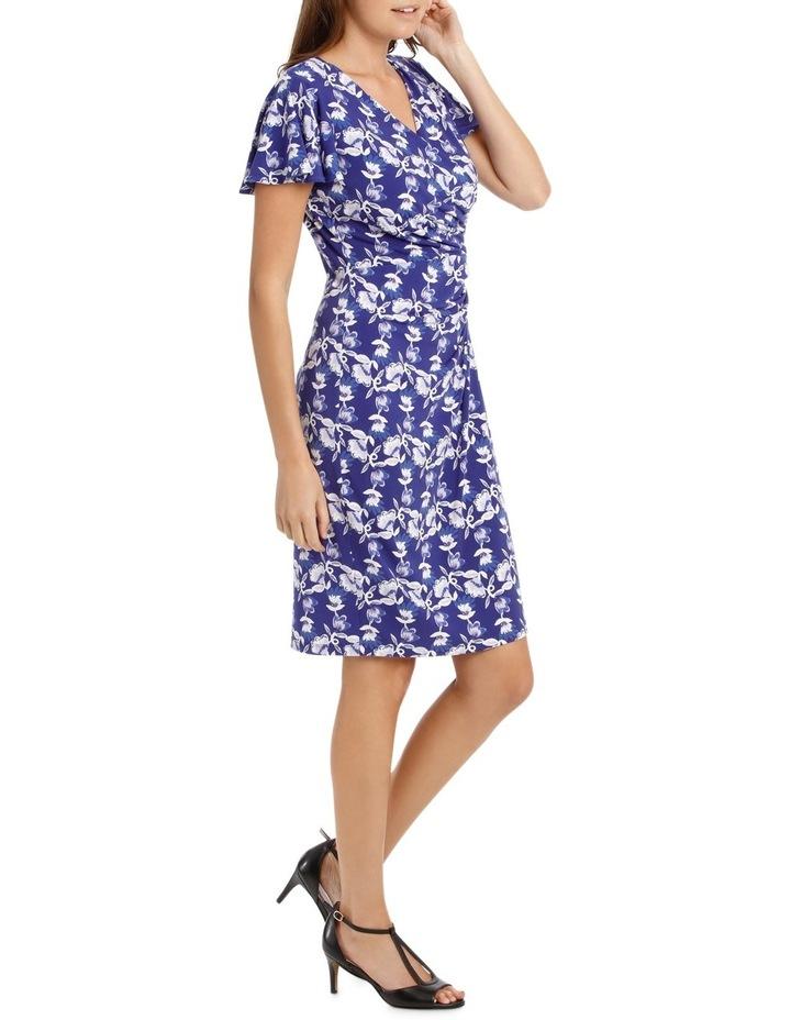 Purple Falling Daisy Side Drape Dress image 2