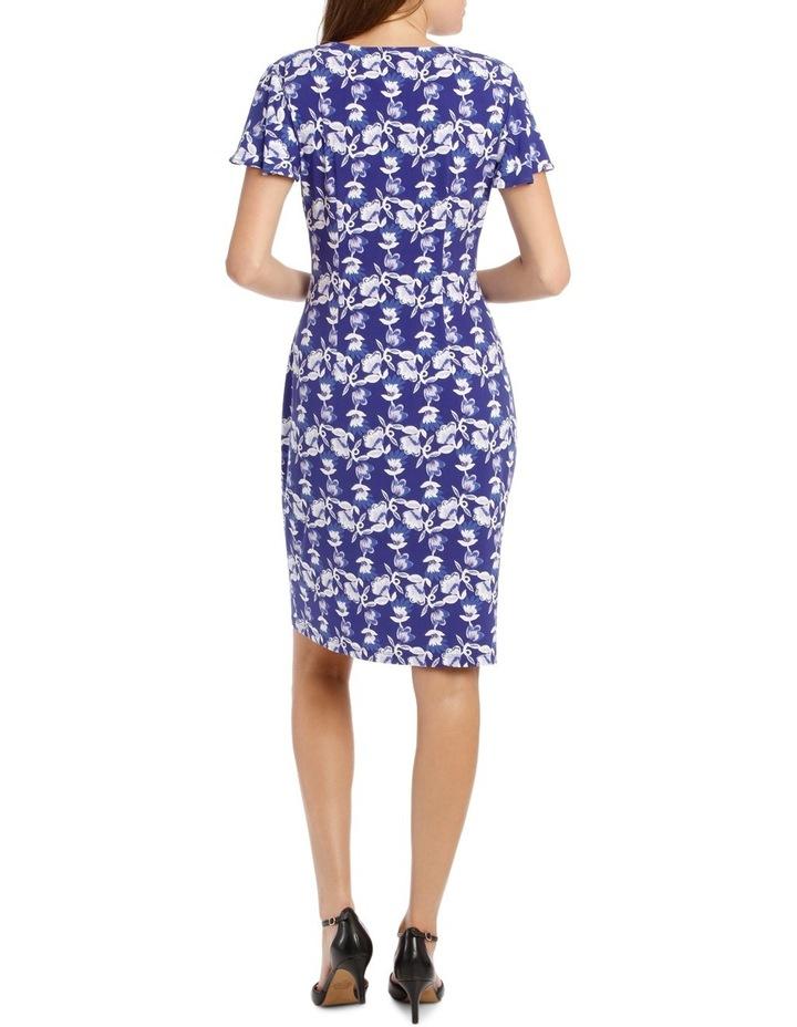 Purple Falling Daisy Side Drape Dress image 3
