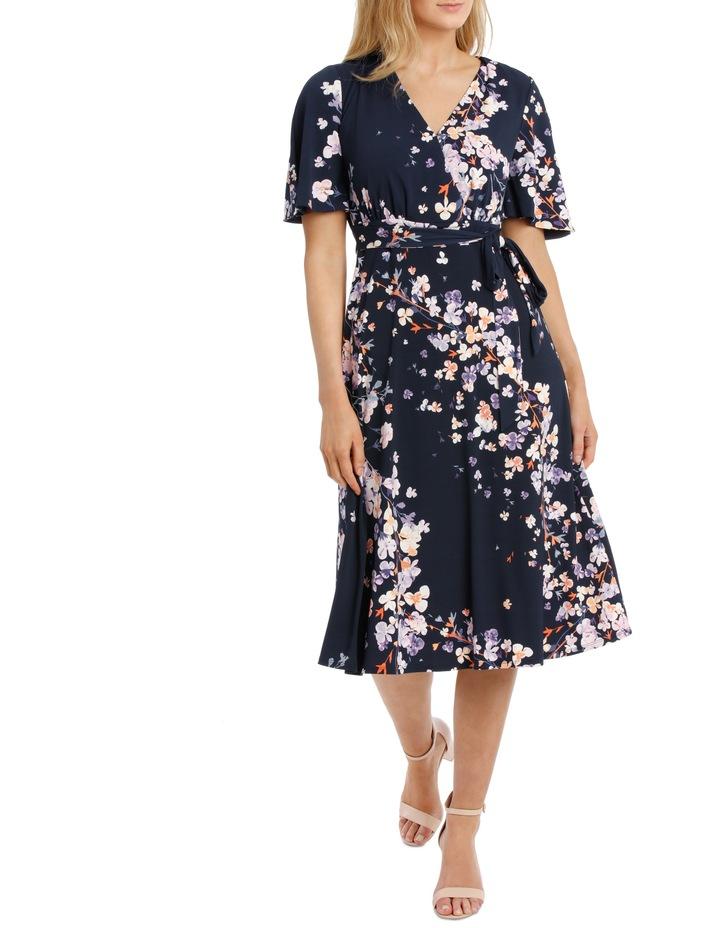 Running Garden Waist Tie Frill Sleeve Dress image 1