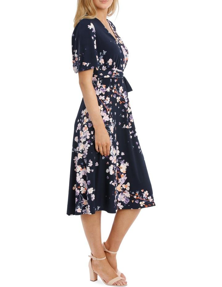 Running Garden Waist Tie Frill Sleeve Dress image 2