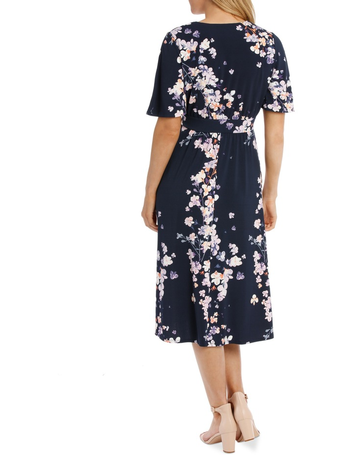 Running Garden Waist Tie Frill Sleeve Dress image 3