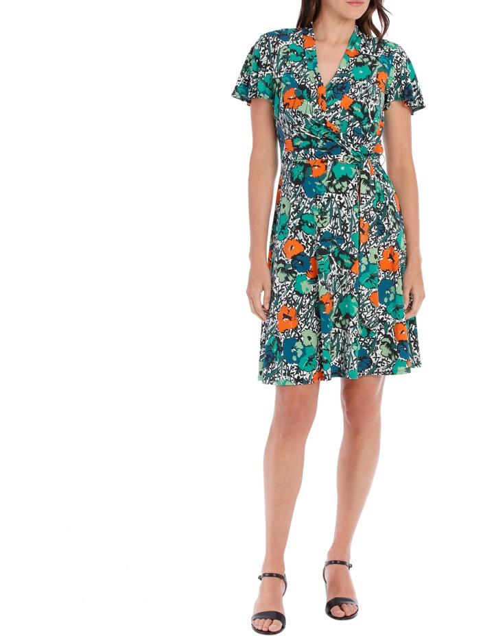 Green Wispy Pansy Dress image 1