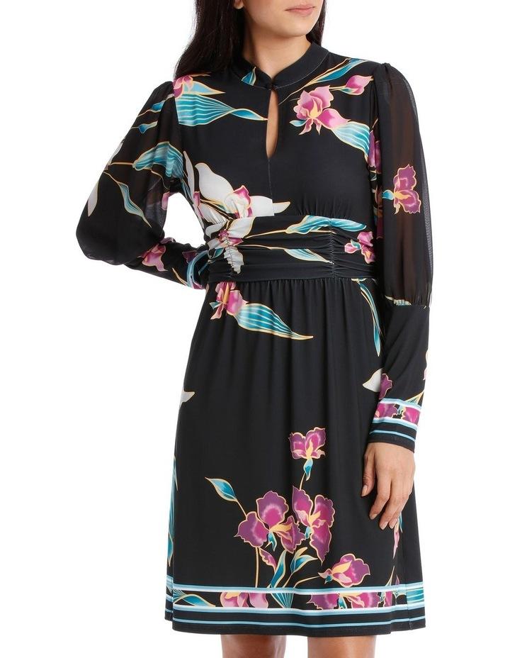 Midnight Lily Mandarin Collar Dress image 1