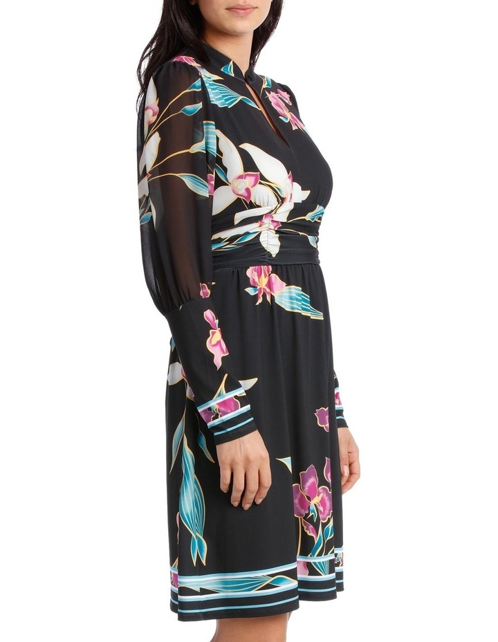 Midnight Lily Mandarin Collar Dress image 2