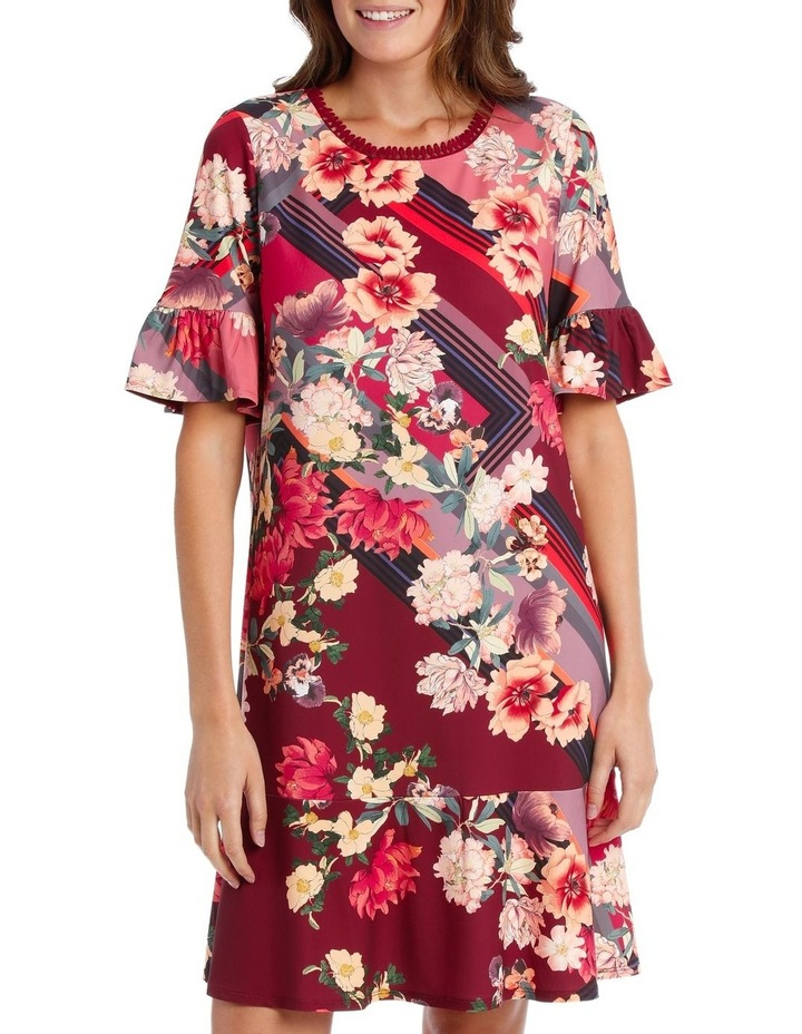 Scarf Floral Ruffle Tunic image 1
