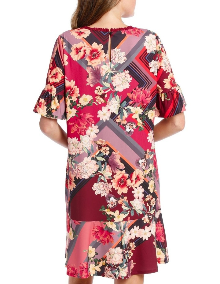 Scarf Floral Ruffle Tunic image 2