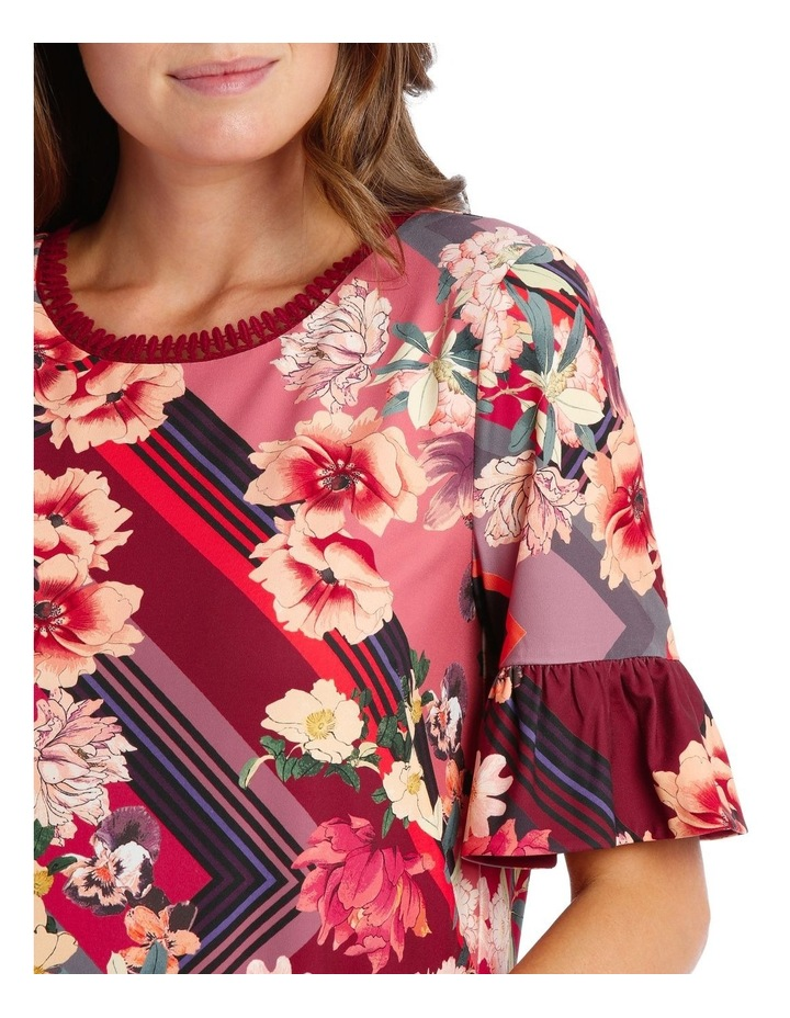 Scarf Floral Ruffle Tunic image 3