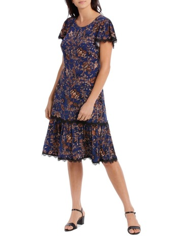 7f3bf56689 Leona by Leona EdmistonLace Trim Jersey Dress. Leona by Leona Edmiston Lace  Trim Jersey Dress