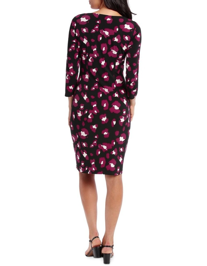 Magenta Wilma Print Side Gather Dress image 2