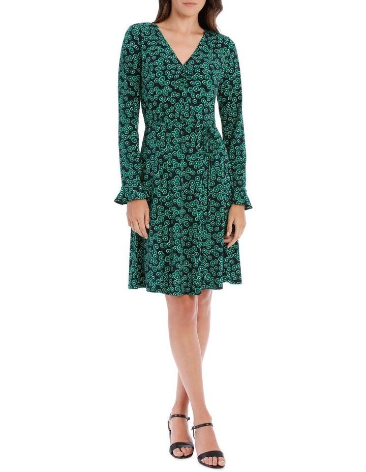 Emerald Mini Petunia Ruched Front Dress image 1