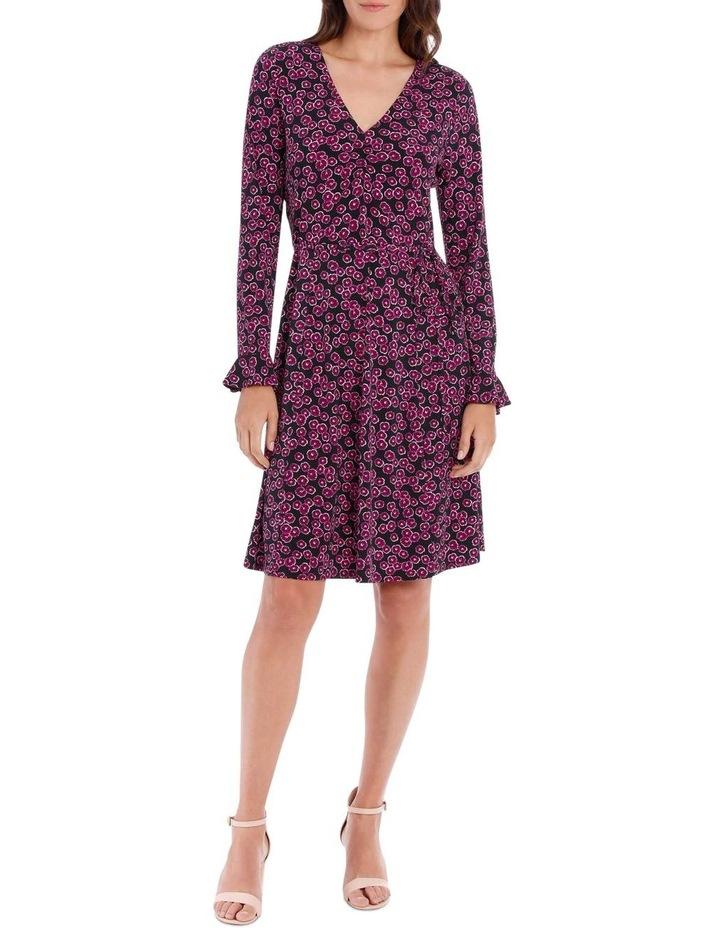 Magenta Mini Petunia Ruched Front Dress image 1