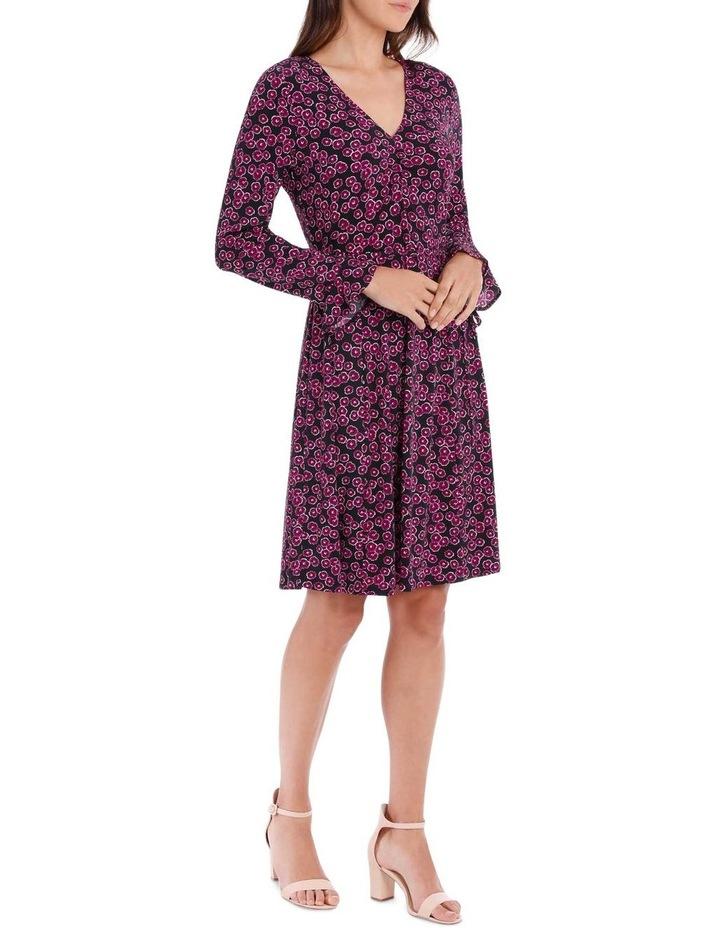 Magenta Mini Petunia Ruched Front Dress image 2