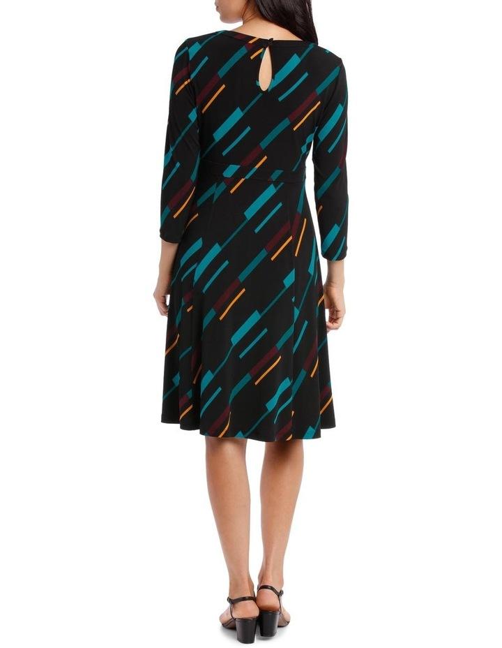 Black/Magenta Dash Empire Dress image 2
