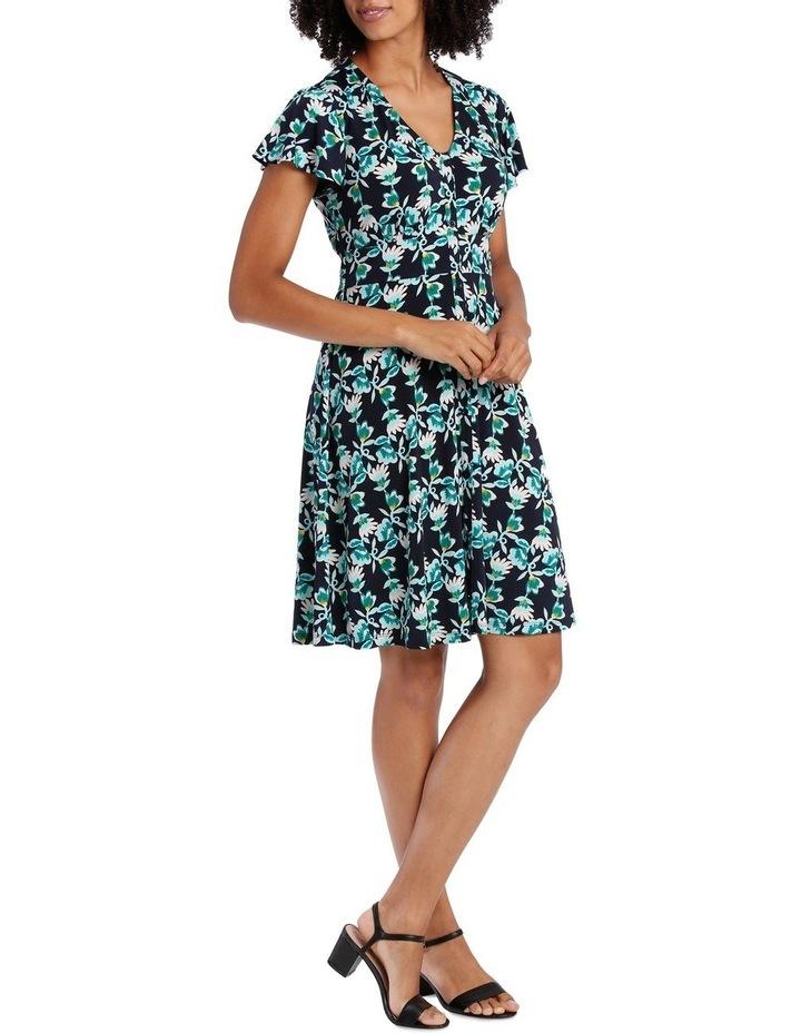 Navy Base Multi Leaf Shirtmaker Dress image 2