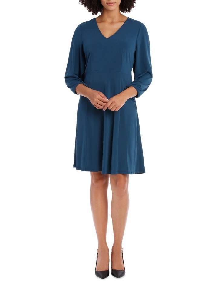 Midnight Long Sleeve V-Neck Dress image 1