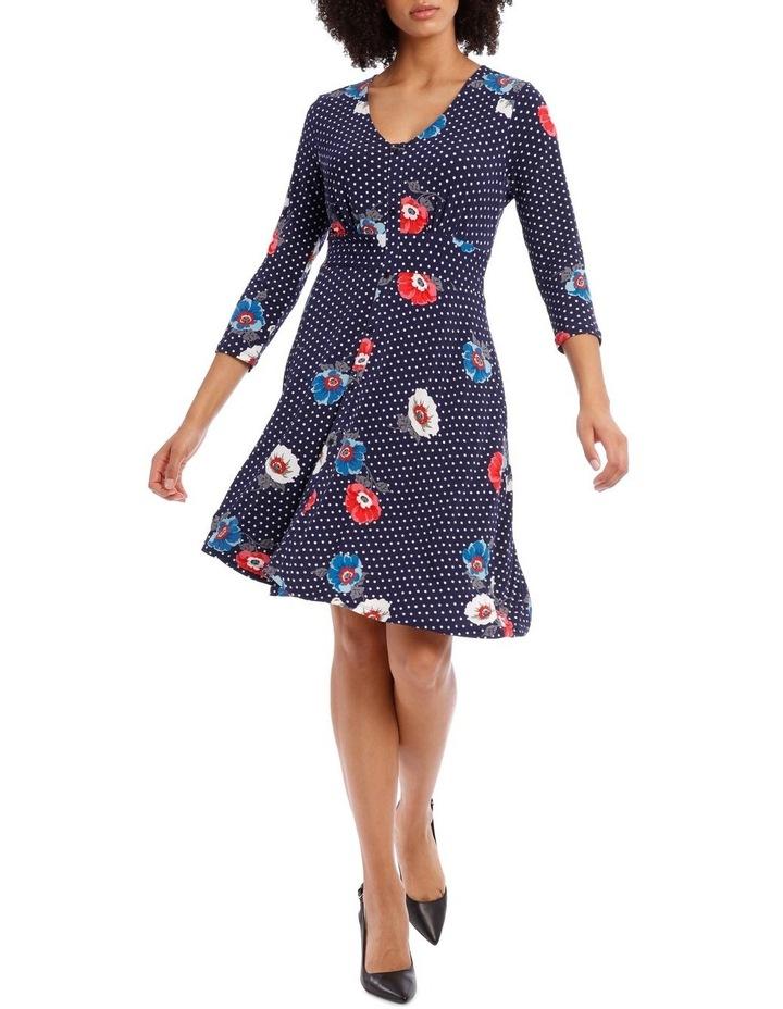 3/4 Sleeve Oasis Floral Shirtmaker Dress image 1