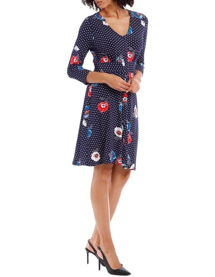 3/4 Sleeve Oasis Floral Shirtmaker Dress image 2