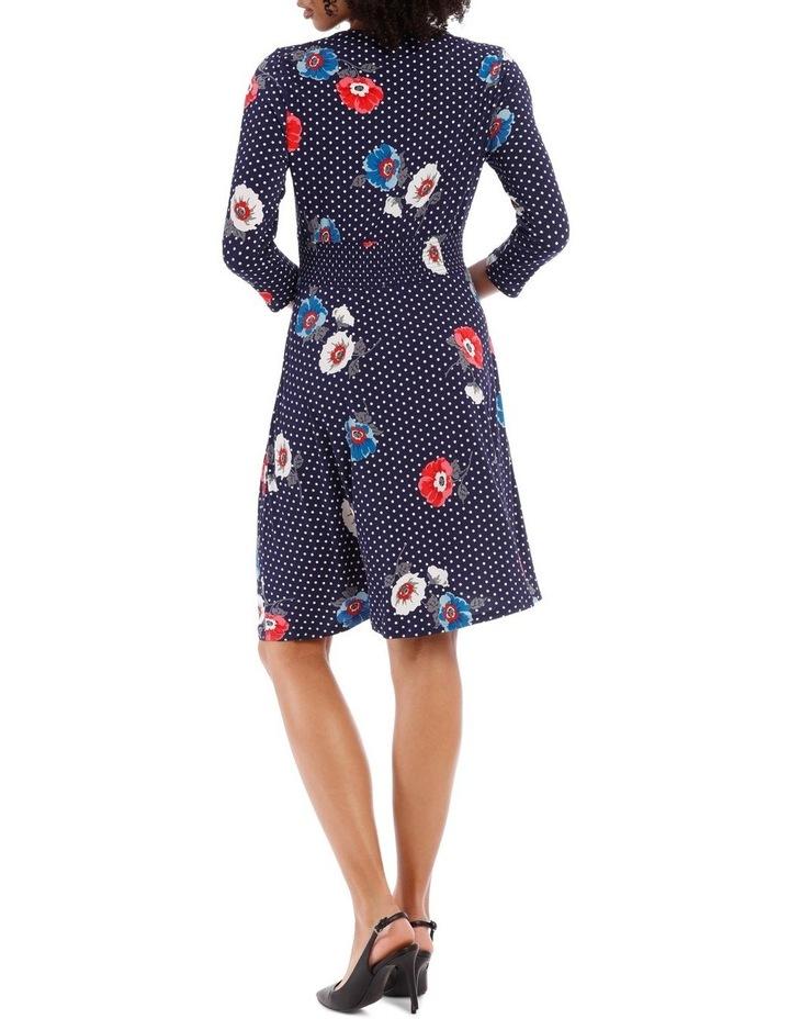 3/4 Sleeve Oasis Floral Shirtmaker Dress image 3