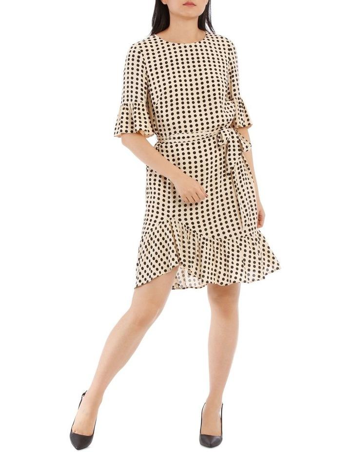Cream Polka Bouquest Frill Tunic Dress image 1