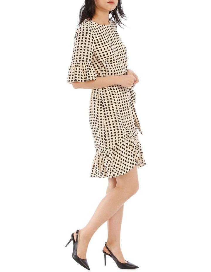 Cream Polka Bouquest Frill Tunic Dress image 2